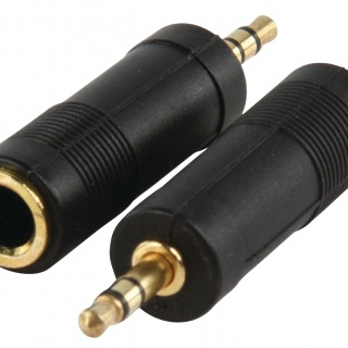 AC005 Gold Stereo audio adapter